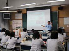 2013島田第一中学校職業講話の写真